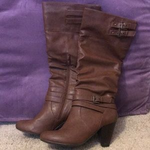 Tall Brown Riding Boots